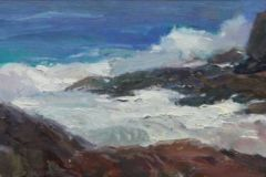 Daskam_Rick_Backside-Surf-and-Rocks2_oil_6x16_1200