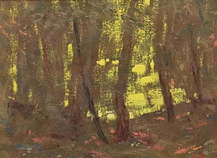 Anisimov Light in the Woods oil