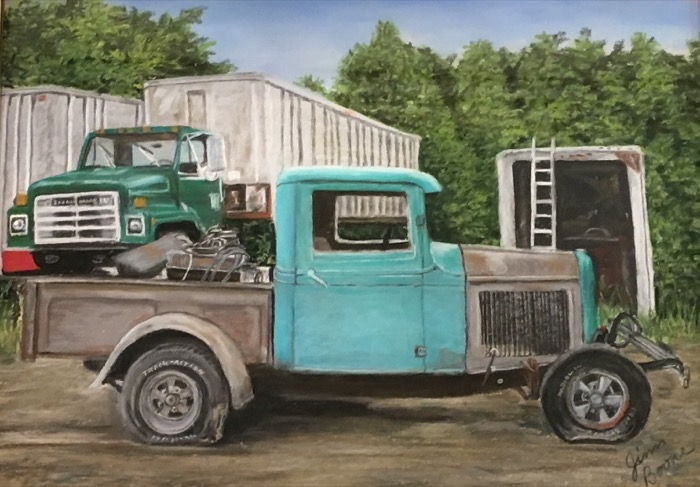 Boone Restoration Project pastel SOLD