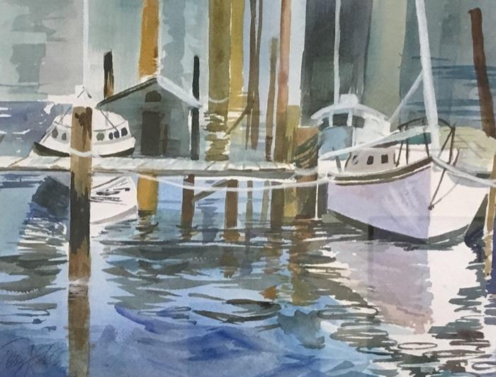 Eddy Still Water Reflections watercolor