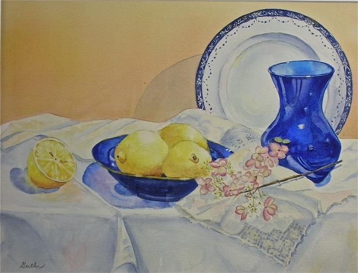 Gertler Cobalt and Lemons watercolor