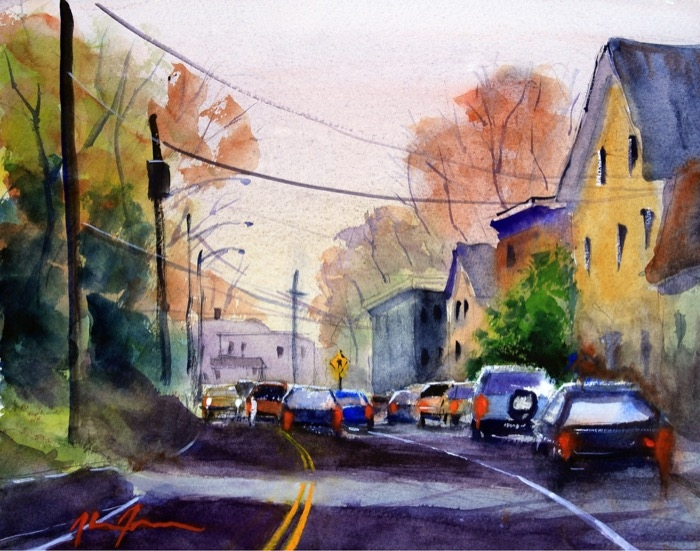 James Deep River watercolor
