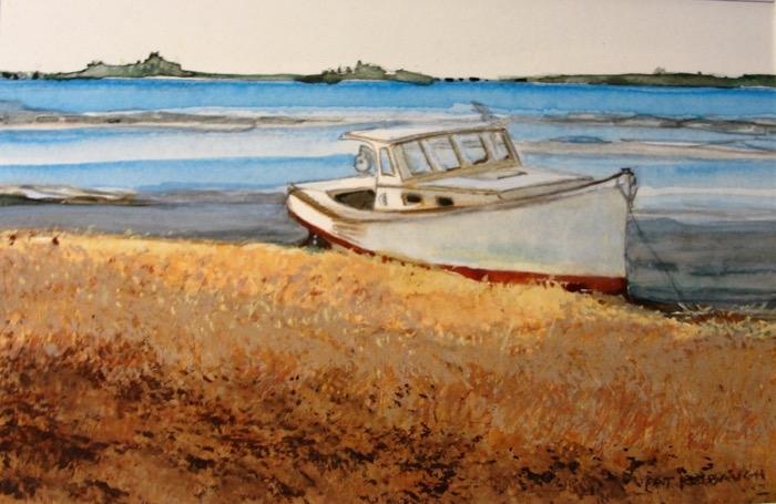Kelbaugh Autumn Tide, Maine watercolor