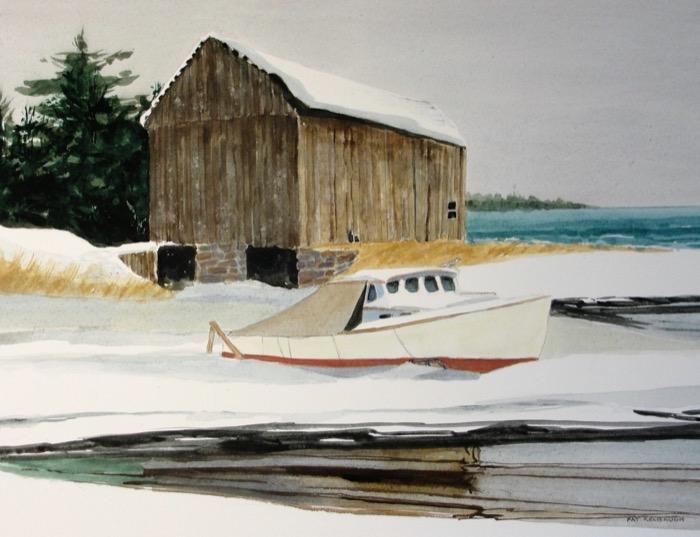 Kelbaugh Winter Storage watercolor