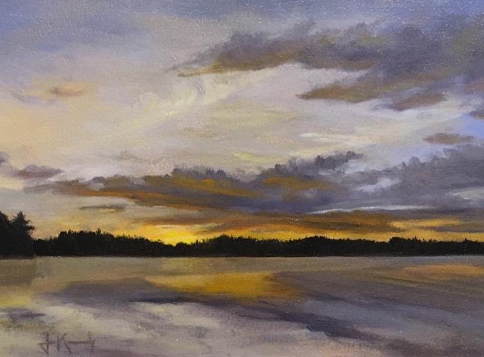 Kennedy Sunset Weber Pond oil