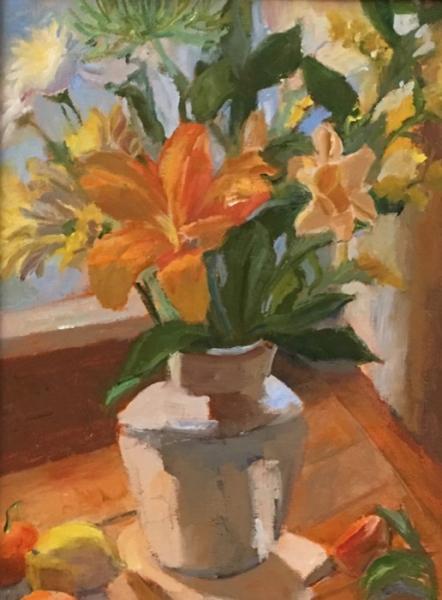 Mann Lilies and Daisies oil