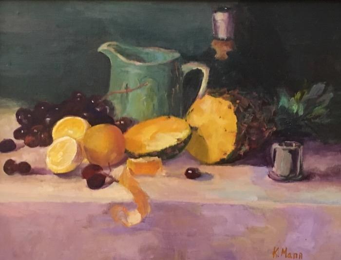 Mann Still Life with Pineapple oil