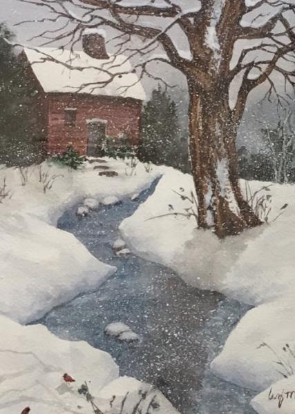 McGee A River Runs Thru watercolor