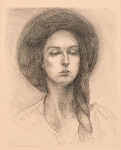 Mellot A Young Woman graphite