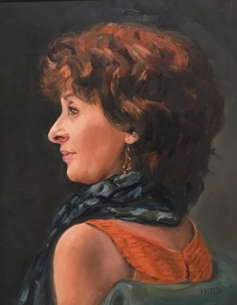 Mellot Portrait of New Beginnings oil