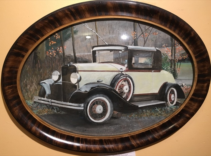 Mendel Vintage Roadster watercolor