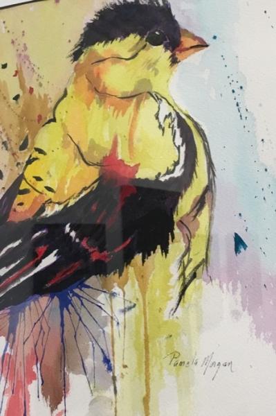 Morgan Goldfinch watercolor
