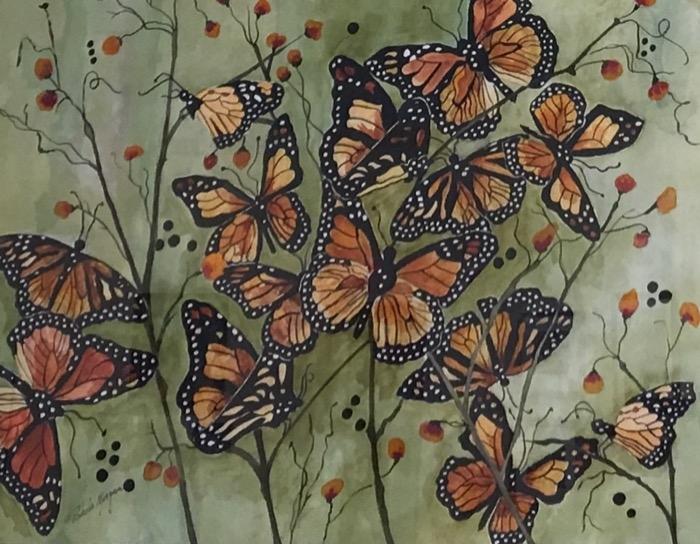 Morgan Regal Monarchs watercolor