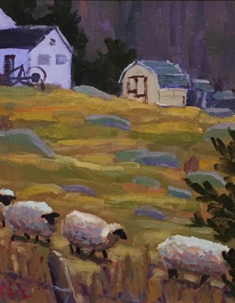 Nebel Burberry Farm Sheep acrylic