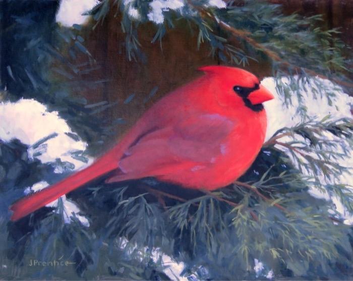 Pentice Cardinal in Snow oil