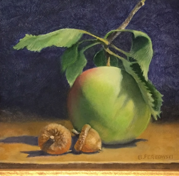 Perkowski Acorns and Apple oil SOLD