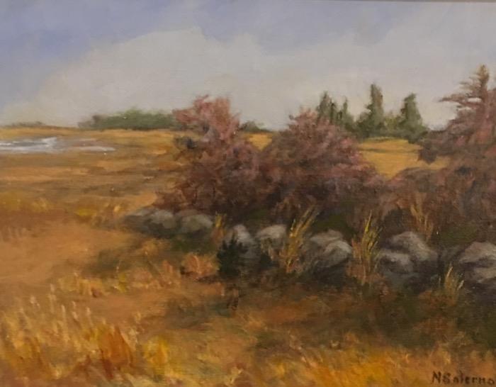 Salerano Winter Marsh acrylic