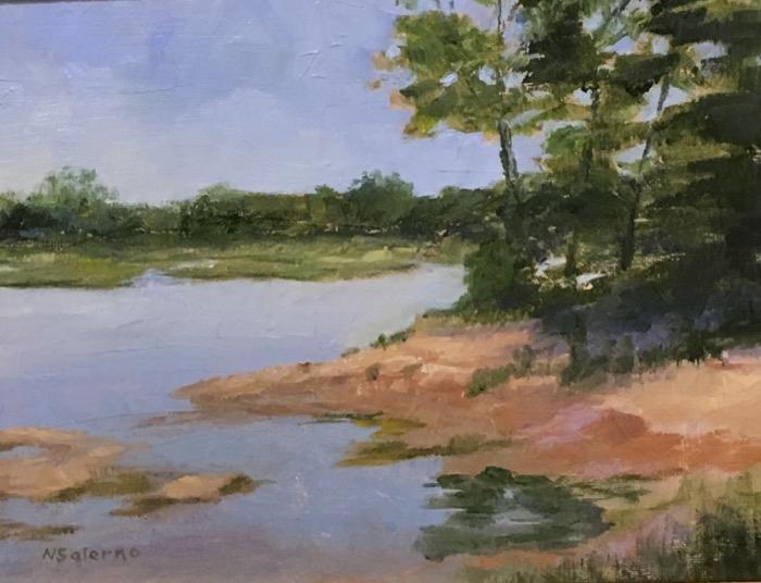 Salerno Across the Marsh acrylic