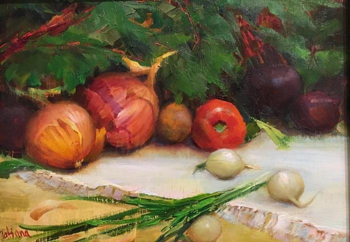 Yanovskaya Sink Still Life with Onions oil