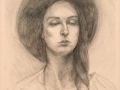 Mellot A Young Woman graphite