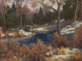 Rogan Late March River Scene oil