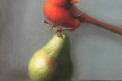 Baldino_Patt_Cardinal-on-Pear_10x8_oil_950