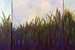 Carlson_Pamela_Bee-Tryptic_acrylic_24x48_875