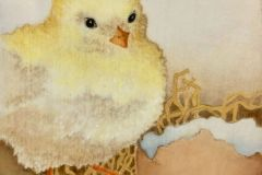 Dewell_Paula_Just-Hatched-1_watercolor-on-board_6x6_125