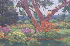 Rogan_Michael_Birch-Tree-with-Flowers_oil_14x18_750
