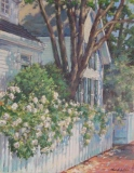 "Sharon Bahosh, ""Storybook Village"", oil, 14x18, $1,900"