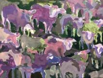 "Teri Banas, ""Cool Shadows - Award of Merit"", acrylic, 12x16, $900"