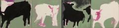 "Teri Banas, ""Reason to Dance"", acrylic, 6x24, $1,000"