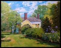 """Richard Bazelow, """"Spring Day Florence Griswold home"""", oil, 14x18, $750"""
