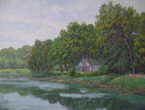 "Mike Berlinski, ""The Lieutenant River, Early Summer"", oil, 16x20, $975"