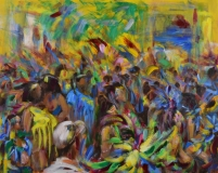 "John Blair, ""Cayman Carnival"", acrylic, 24x30, $920"