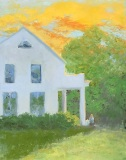 "Ellie Boyd, ""Tea for One"", oil, 11x14, $565"