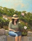 "Ellie Boyd, ""Writer at Work"", oil, 11x14, $565"