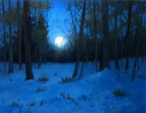 "Jack Broderick, ""Moonset"", oil, 12x16, $1,400"