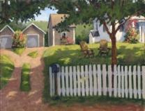 "Jack Broderick, ""Summer Shade"", oil, 16x20, $2,200"