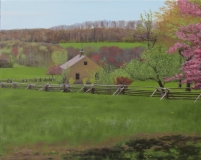 "William Burnham, ""The Homestead In Spring"", acrylic, 16x20, $1,450"