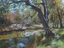 """John Caggiano, """"River View"""", oil, 18x24, $3,900"""