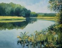 "Michael Centrella, ""Lieutenant River"", oil, 16x20, Sold"