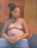 "Diane Chandler, ""Waiting"", oil, 28x22, $900"