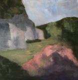 "Kay Clarke, ""Helen's Mt. Laurel"", oil, 20x20, $1,200"
