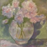 """Patricia Corbett, """"Floral Fantasia"""", oil, 12x12, $850"""