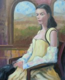"""Sam D'Ambruoso, """"Waiting and Watching"""", oil, 20x16, $1,500"""