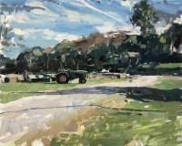 "Hollis Dunlap, ""John Deere"", oil, 16x20, $3,500"
