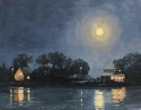 "Eileen Eder, ""August Moon"", oil, 11x14, $1,200"
