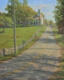"Eileen Eder, ""Spring Grassy Hill Road"", oil, 20x16, $2,500"