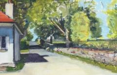 "Liz Egan, ""Harkness Park"", goauche, 12x20, $500"